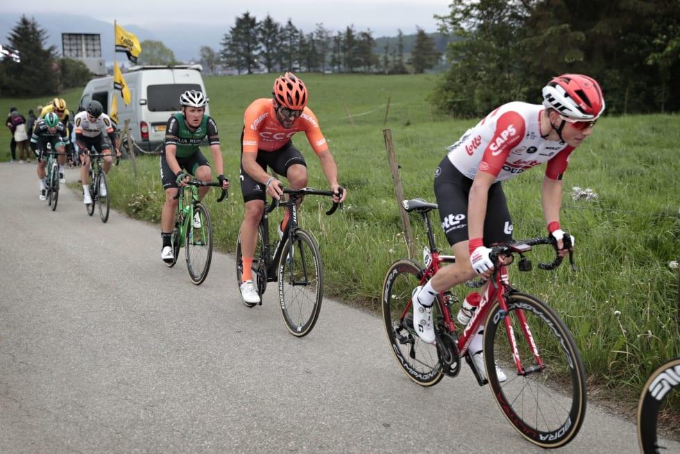 NORGES BESTE KLATRER?: Carl Fredrik Hagen var strålende i Tour de Romandie, kan han levere like bra her? Foto: Cor Vos.