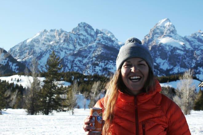 PÅ PUDDERTUR: Marit Rolvsjord melder om drømmeforhold i Østerrike. Foto: Privat