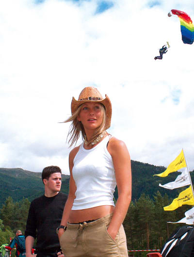 VEKO: Karina på plass på Voss under Ekstremsportveko i 2005.