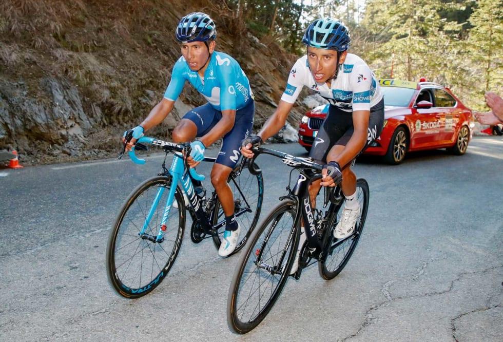 COLUMBIANSKE KONKURRENTER: Nairo  Quintana (t.v.) er blant de fremste favorittene, men Johan Kaggestad ber oss også se opp for landsmannen Egan Bernal. Foto: Cor Vos