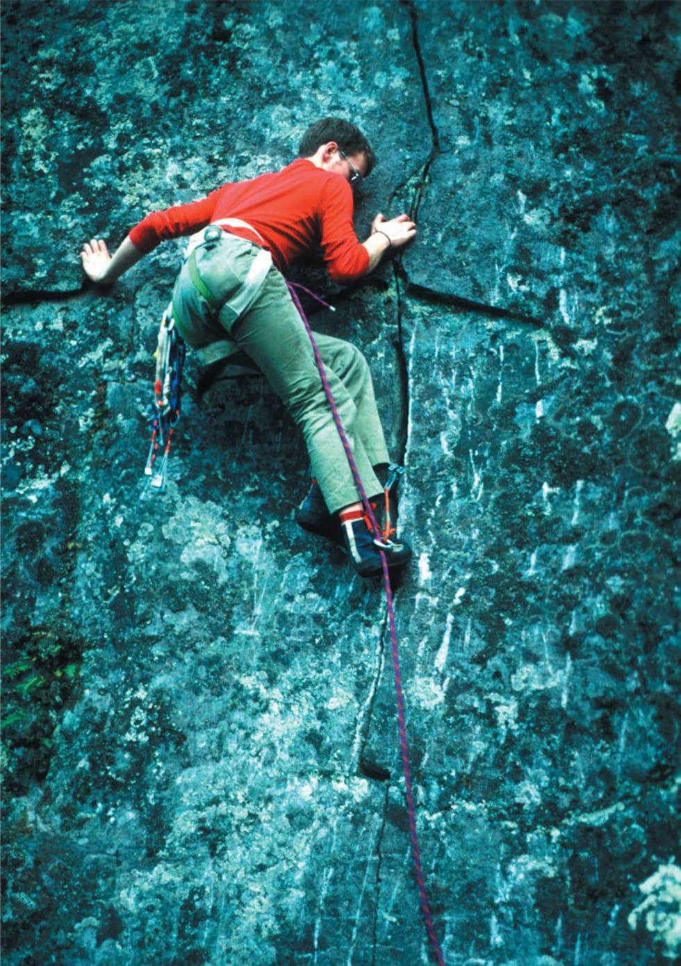 KLIPPEFUNN: Fåberget var det eneste feltet Andreas fant i nærheten av Lillehammer. Foto: Fredborgs samling