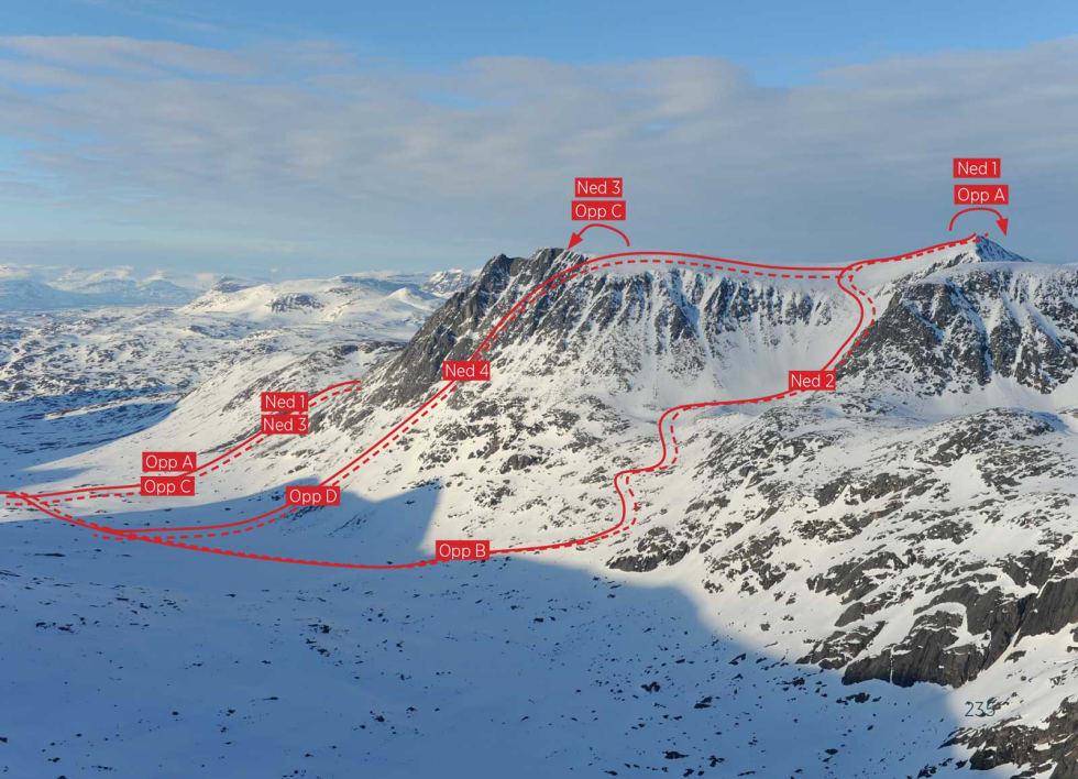 Ristačohkka fra sørvest. Foto: Rune Dahl / Toppturer rundt Narvik.