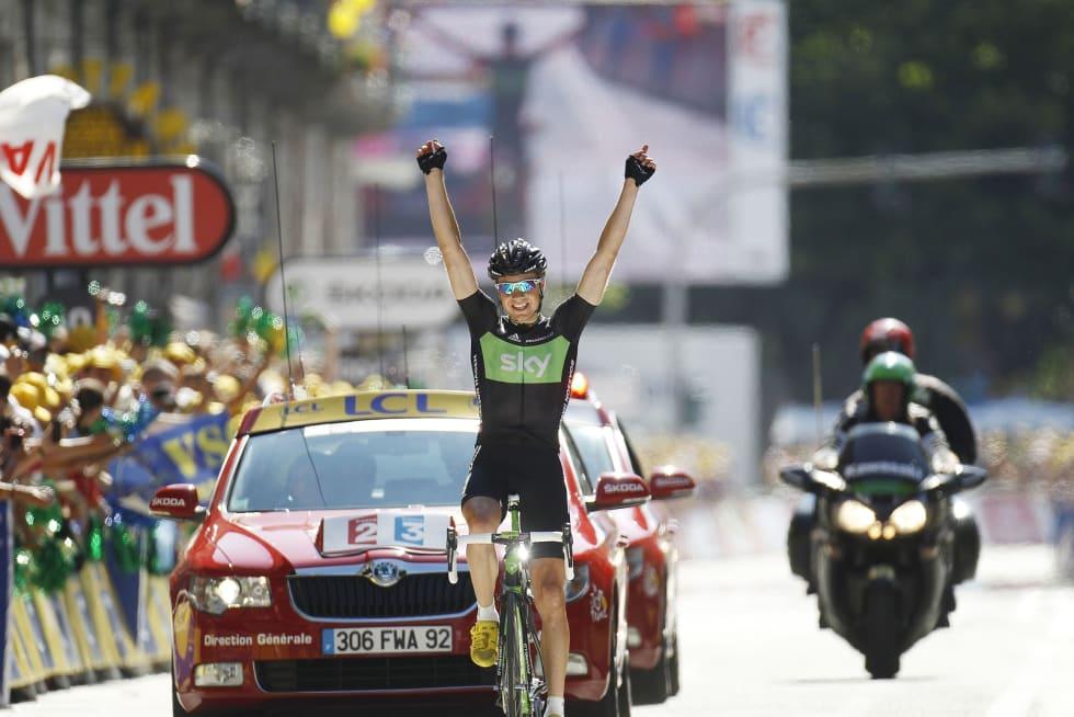 NESE FOR BRUDD: To av Edvalds tre etappeseire i Tour de France har kommet fra brudd. Foto: Cor Vos.