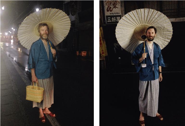 EVENTYRERE: Christian Møkleby (t.v) og Alexander Kloster-Jensen under deres reise gjennom Japan. Foto: Alexander Kloster-Jensen.