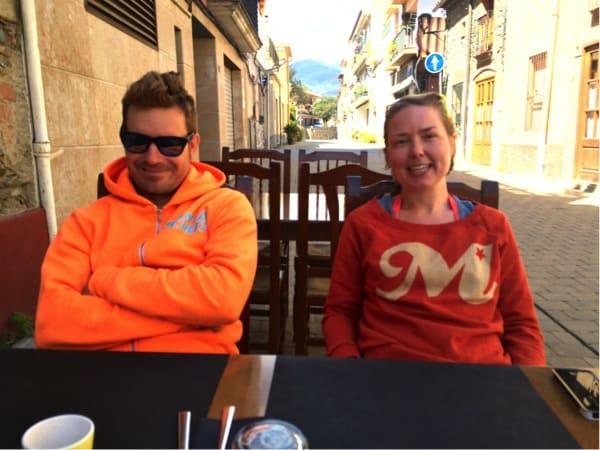 FORBEREDENDE LUNSJ: Jordi og Trude.