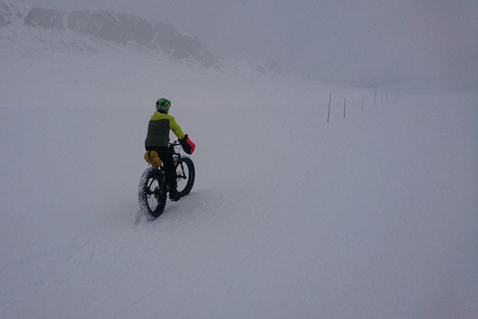 Tjukkas: Denne sykkelen står ikke i boden gjennom vinteren. Foto: Nina Gässler