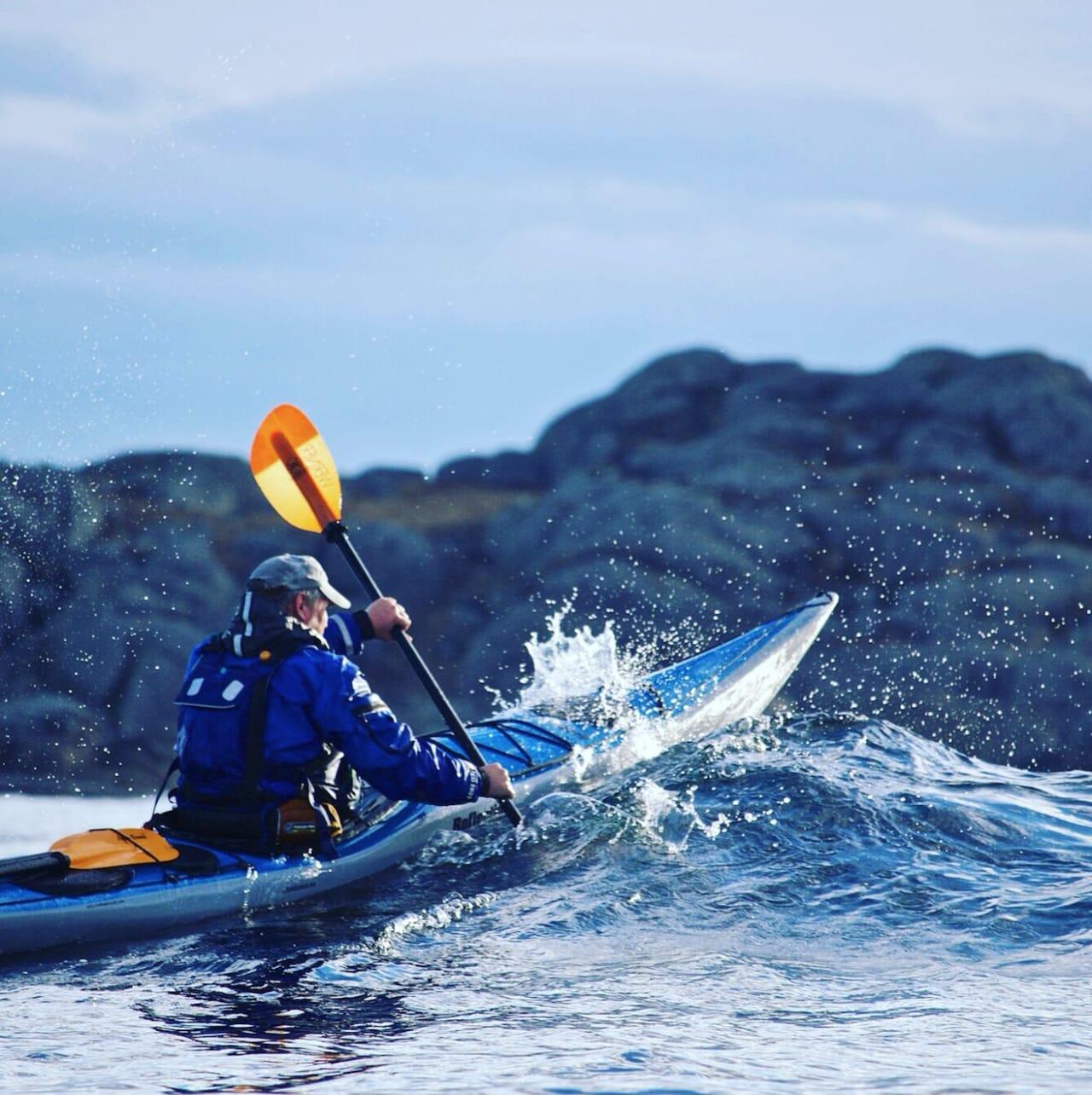 Matt Skuse er ikke redd for kaldt vann. Foto: Privat