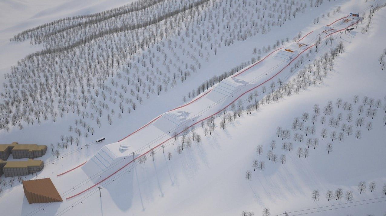 HISTORISK: OL-coursen i PyeongChang kommer til å bli tidenes råeste. Særlig railseksjonen i toppen ventes å bli avgjørende. Illustrasjon: Schneestern