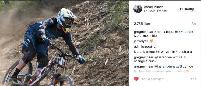 ENGASJEMENT: Greg Minnaar er en jordnær og tilgjengelig fyr og kommentarene hagler på Instagram-kontoen hans etter 29er-nyheten.