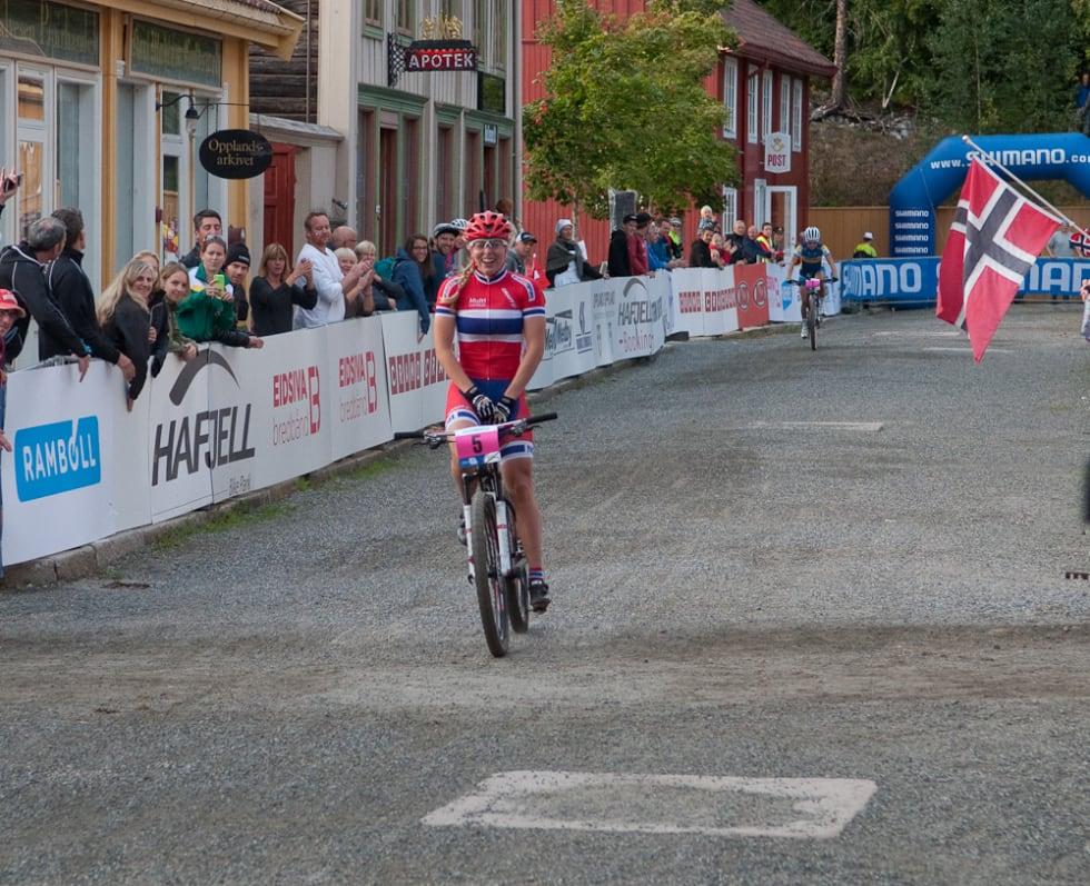 BRONSEJENTE: Ingrid Sofie Bøe Jacobsen fra Sepura Superior tok bronse i VM i sprint på Maihaugen. Foto: Øyvind Aas