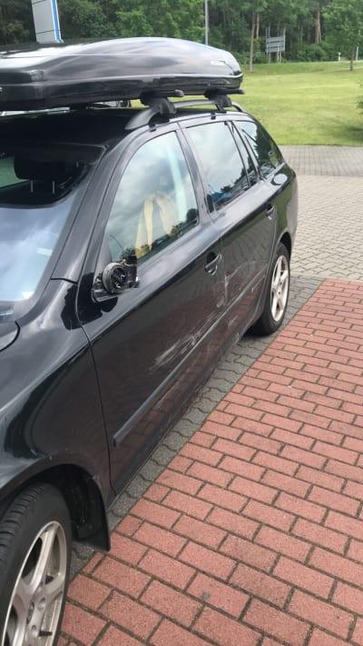 HERPA BIL: Slik så Idas bil ut etter nær døden-opplevelsen på autobahn.