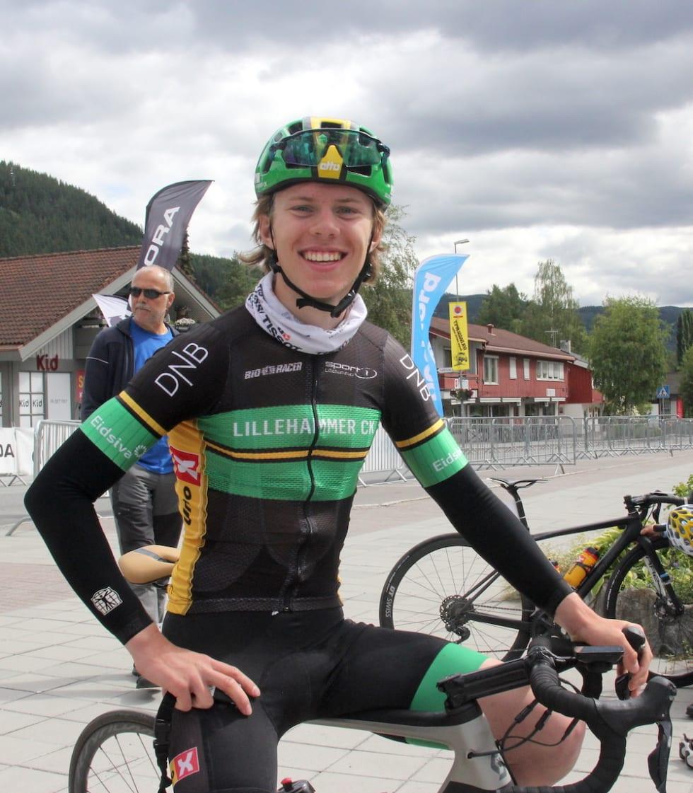 SAMMENLAGTVINNER: Johannes Staune-Mittet barn Tour te Fjells sammenlagt etter to etappeseiere, en andreplass, og 28. plass på siste etappe. Foro: Ingeborg Scheve