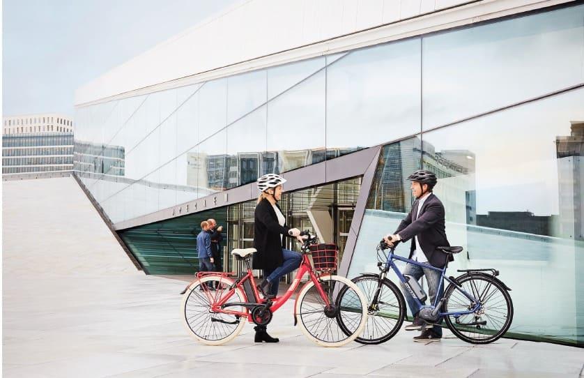 FLERE I BRUK: Praktisk, lettvind og gøy, mener de fleste som prøver elsykkel. Foto: Ecoride