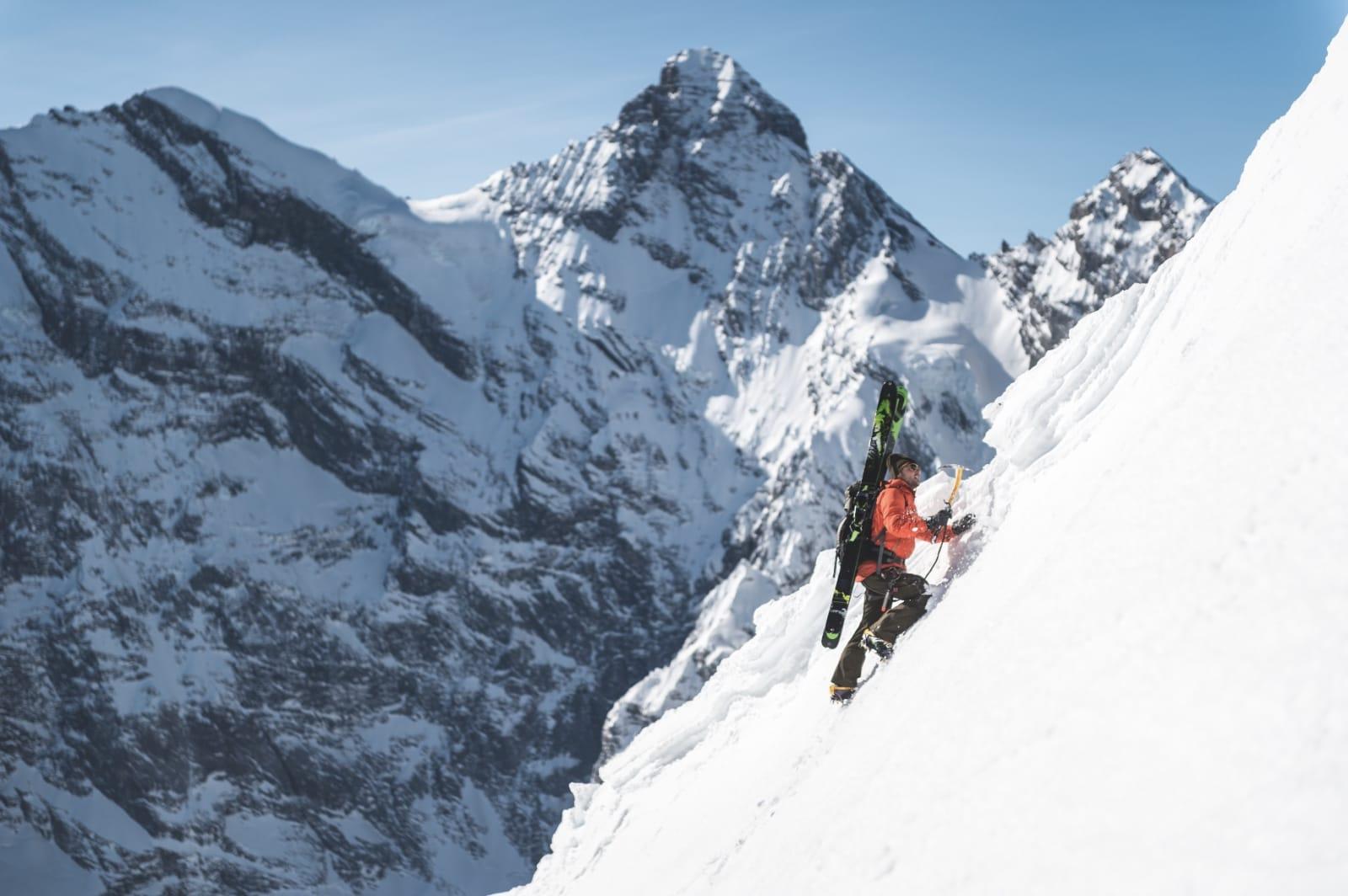 MULIGHETER: Er du ute etter bratt terreng, så er Mürren et sted du bør vurdere. Kanskje ikke helt på høyde med Chamonix, men med en brøkdel så mange sultne skikjørere.