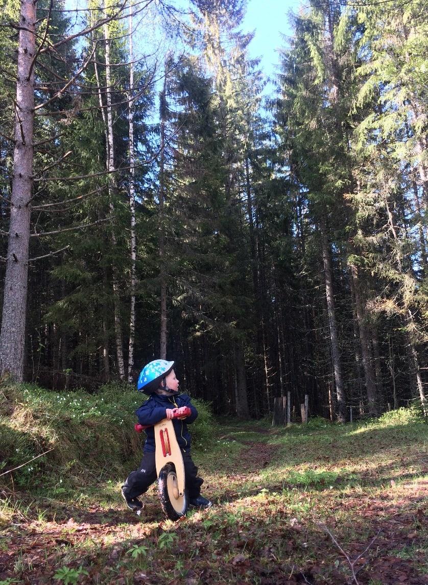 BASIS: Vi som vokste opp i forrige årtusen kan bare misunne dagens barn løpesykkelen. Foto: Gunhild Aaslie Soldal
