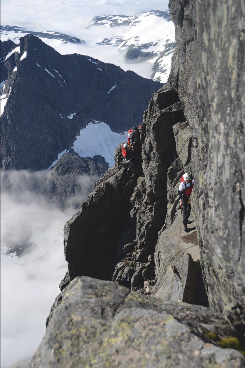 BRATT: På tur opp til Store Skagastølstind må du kunne fjellklatring. Foto: Sandra Lappegard