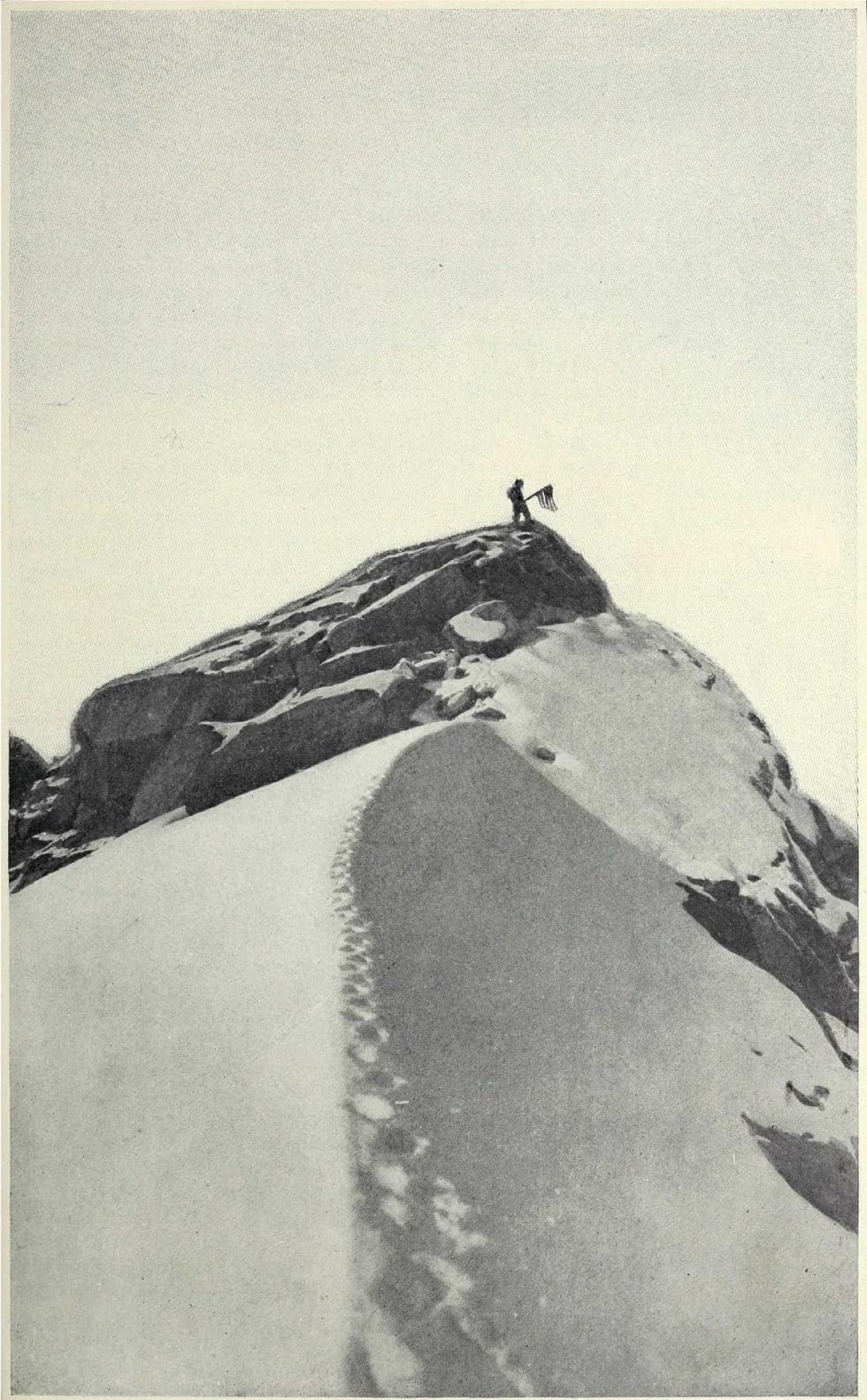 FAKE PEAK: Denne fjellryggen i Denali-massivet har fått navnet «Fake Peak» etter Cooks fotografi, som avslørte at han ikke hadde vært på toppen av Denali, som hevdet. Foto: Granger
