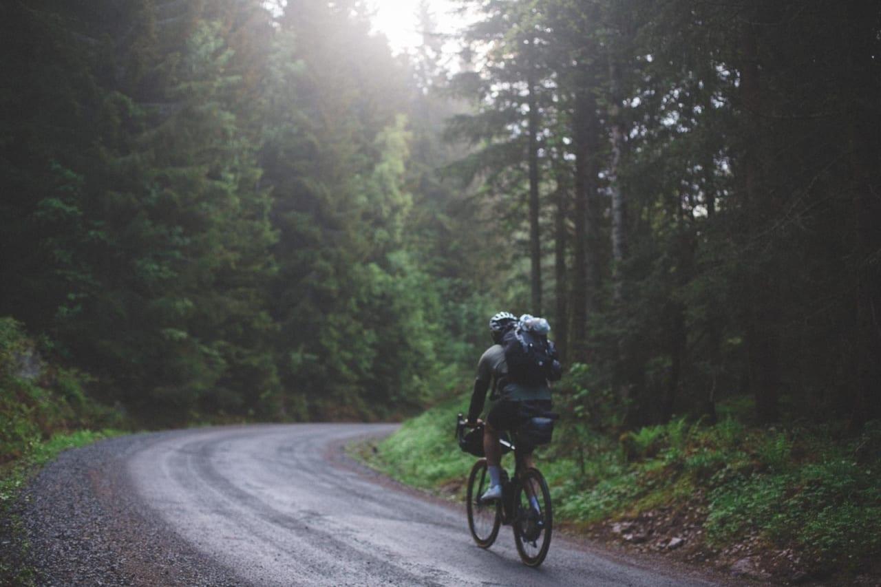 SLUKØRET HJEM: Naturen satte en støkk i turfølget, og Alex Hagen setter kursen hjemover mot Oslo.