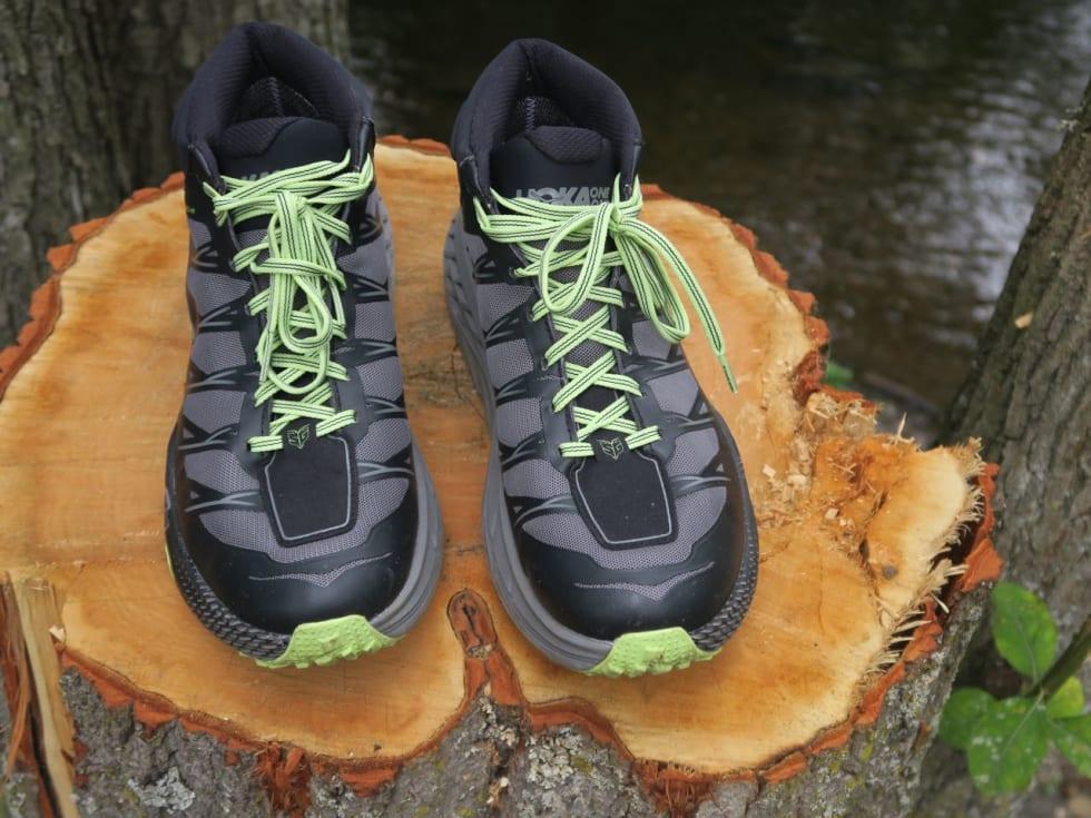 IKKE VANNTETTE: Skyshell-membran til tross, i vår vanntest kom det raskt vann i skoene.