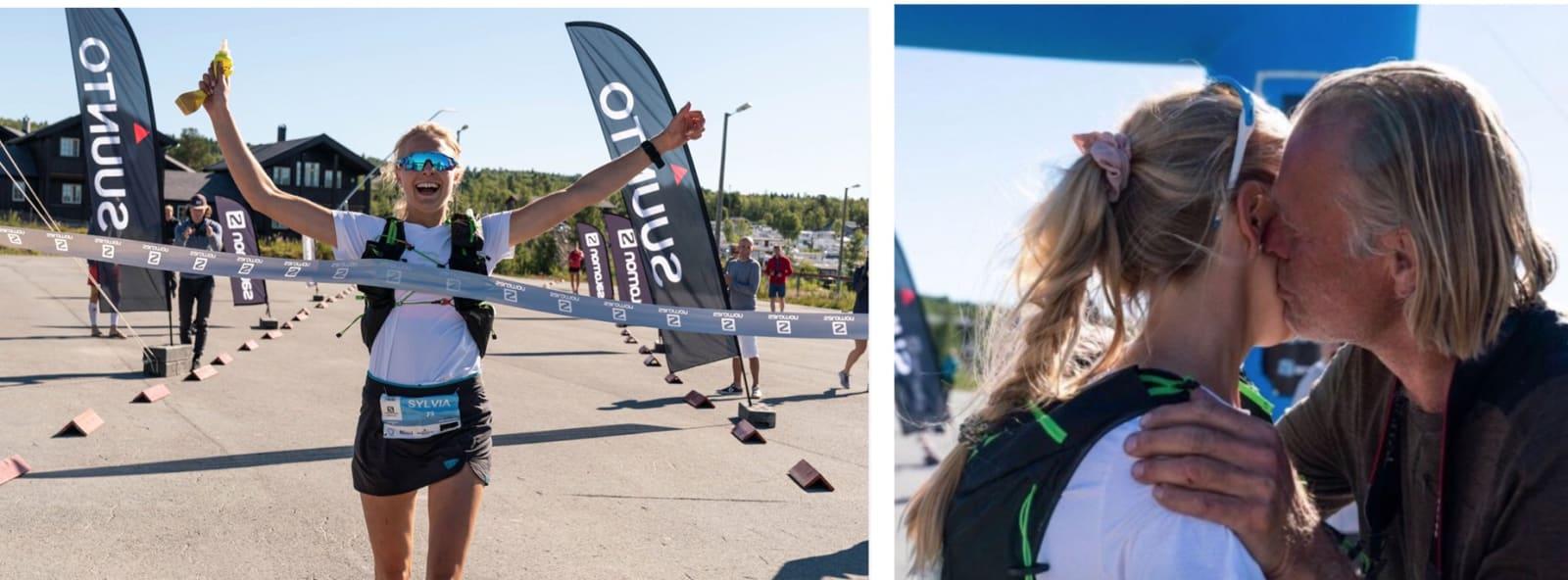 BESTE DAME: Sylvia Nordskar i mål