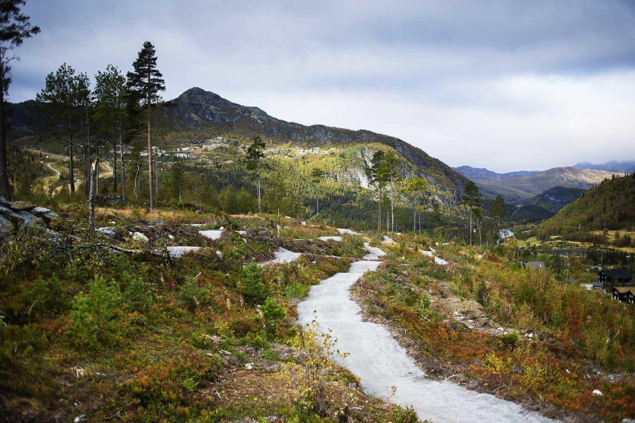 NYBYGD STI I HEMSEDAL: Tottelia Rides er et fint utgangspunkt for sykling i Hemsedal. Foto: Kristoffer H. Kippernes.