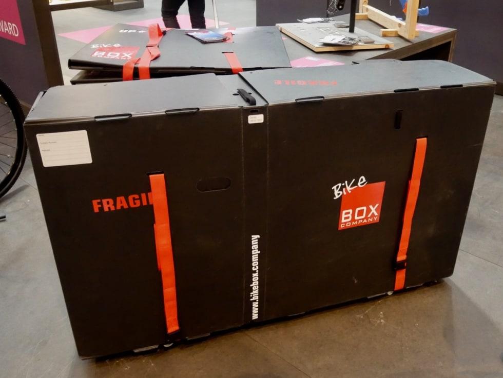 OPPSLÅTT: Bikebox har full størrelse når den er brettet ut.