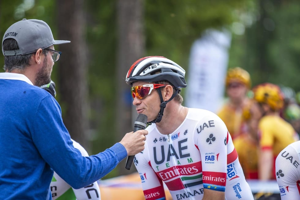 Så var det Alexander Kristoffs tur med mikrofonen. Foto: Pål westgaard