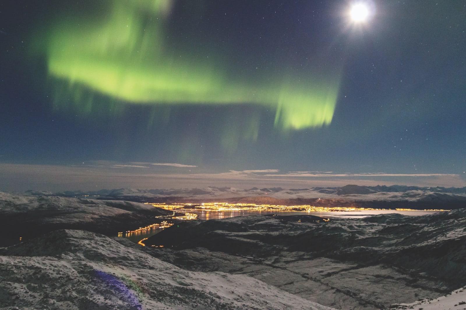 BYNÆR: Ramborenna ligger en kort tur fra Tromsø by. Og jaggu fi kk vi ikke nordlys også.