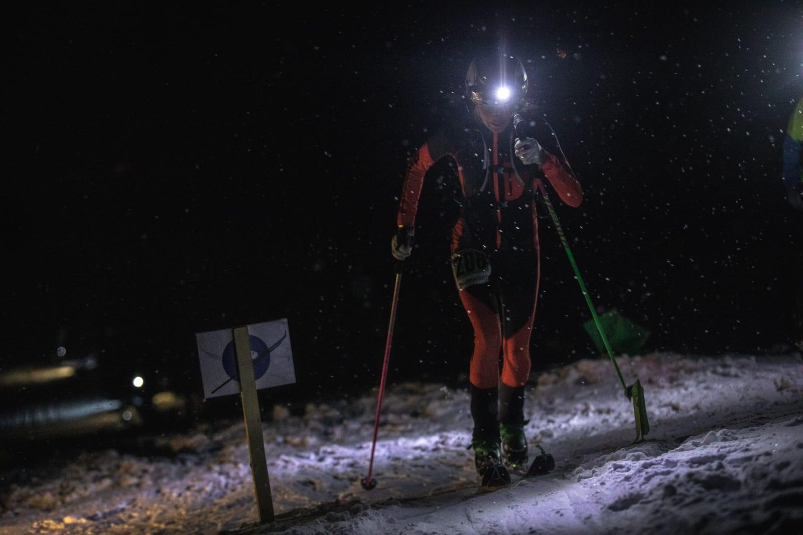 Johanna Åström under fredagens sprint. Foto: Haakon Lundkvist