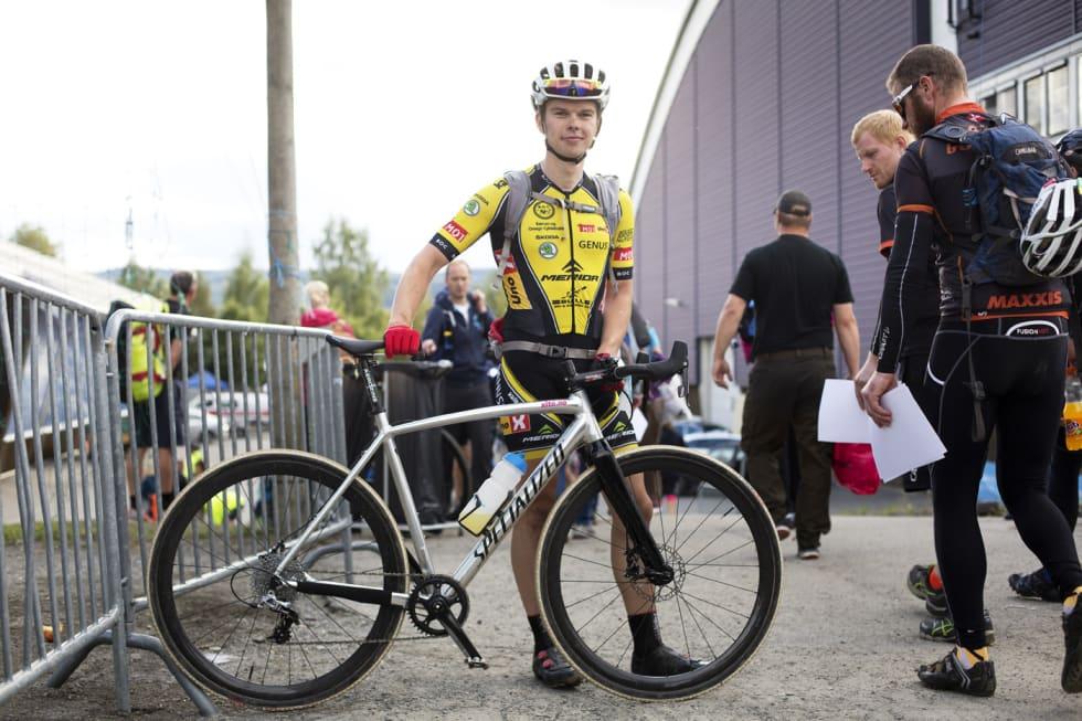 LOVLIG: Fredrik Haraldset kan neste år sykle Nordsjørittet på denne sykkelen, uten å sage av bukken. Foto: Kristoffer Kippernes.