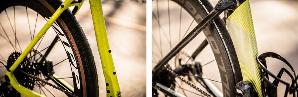 Stor forskjell: Med 25 mm landeveisdekk på begge syklene spriket forskjellene i begge retninger. Med 650-dekk som på bildet på blandeveissykkelen ble det mye tyngre.