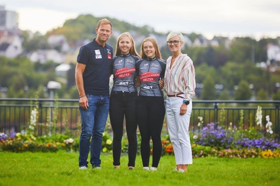 BESTE NORSKE: Silje Mathisen (ved siden av Thor Hushovd) kom på 9.plass i VM-fellesstarten i Yorkshire. Elise Marie Olsen ble nest best av de norske på 47.plass. Foto: Equinor