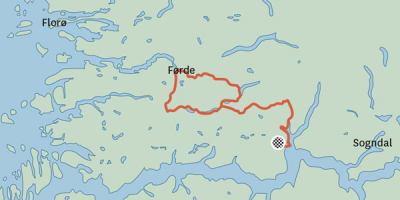 Skjeringspunkt_campinghytte_Gaularfjellet_Kart