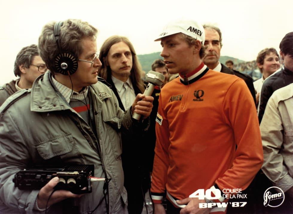 HVA FØLER DE NÅ? Johannes Draaijler blir intervjuet etter etappeseieren til Most. Draaijler døde senere av antatt EPO-misbruk.