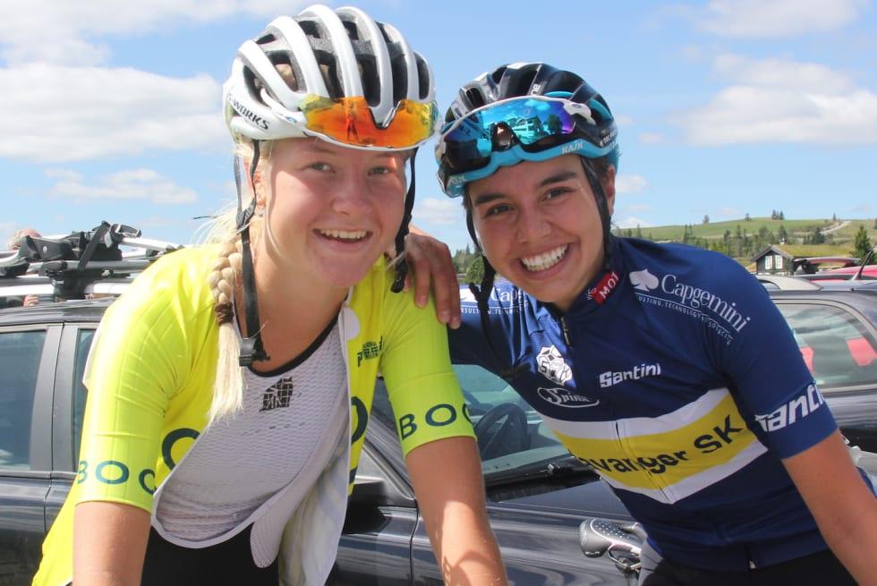 Thale Kielland Bjerk - Amalie Lutro - Tour de Hallingdal 2018 stage 3 - Scheve 1400x933
