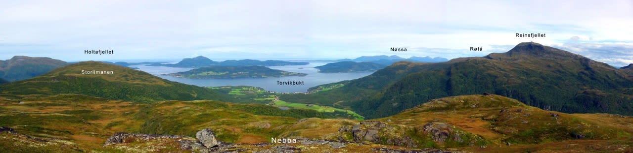 Løypeoversikt for Torvikbukt 6 topper.