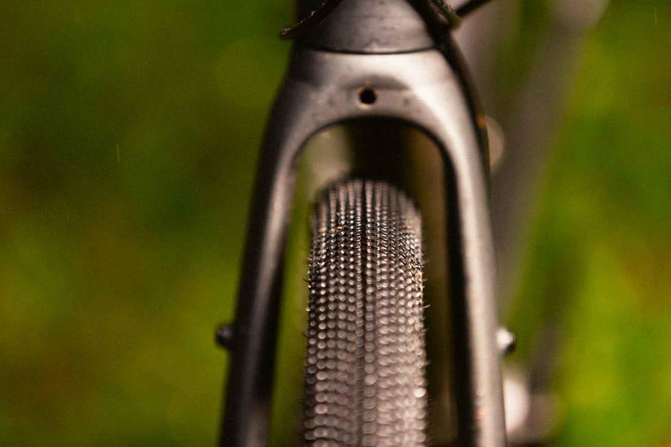 GOD PLASS: Tross 40 mm store dekk som standard er det fortsatt god plass under gaffelen på Gekko-sykkelen. Både piggdekk og skjermer kan monteres.