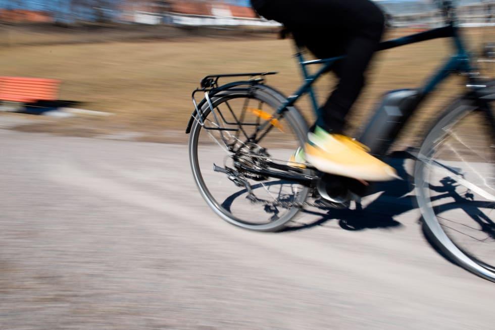 KRANKMOTOR: Motor i kranken gir best sykkelfølelse og kraftigst hjelp i bratte motbakker. Foto: Henrik Alpers