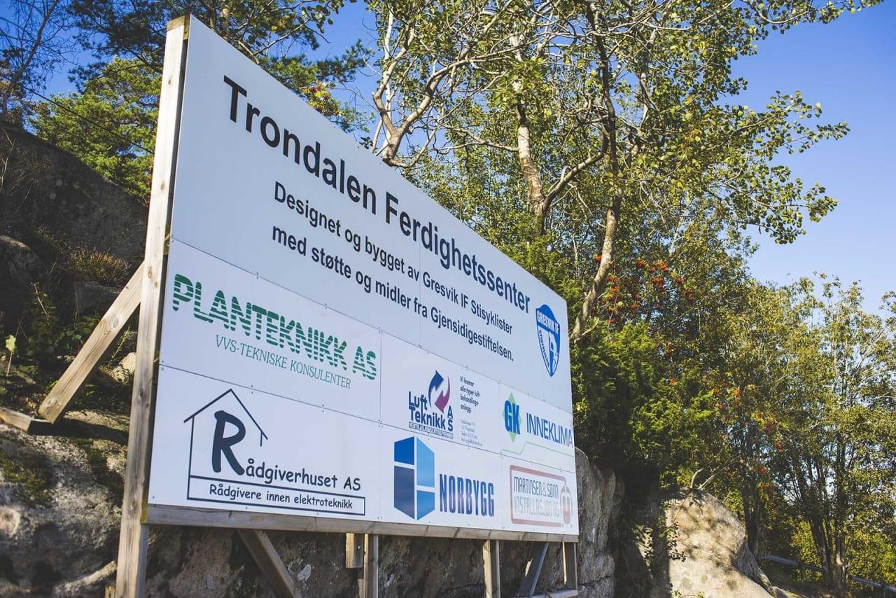 TIL INFO: Anlegget i Trondalen Ferdighetssenter er bygget med støtte fra Gjensidigestifelsen. Foto: Kristoffer H. Kippernes