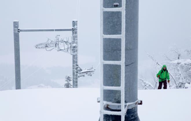 stengt skisenter