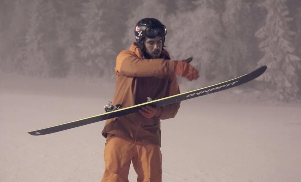 RADIUS: Vinkelen på skiene avgjør hvor stor sving du kjører når du legger skiene på skjær, forklarer Finseth. Foto: Christian Nerdrum
