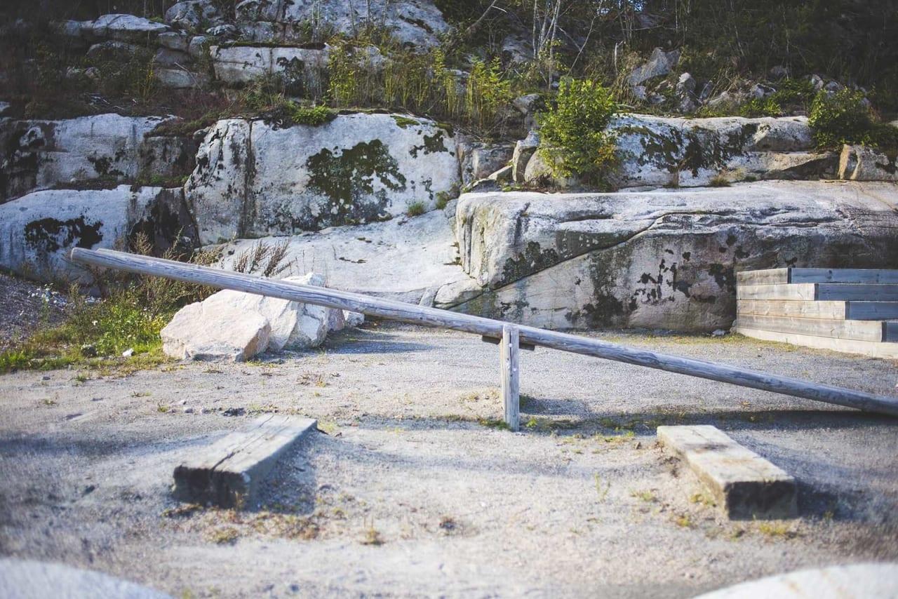 TØR DU? Nok av balanseelementer å bryne seg på. Foto: Kristoffer H. Kippernes