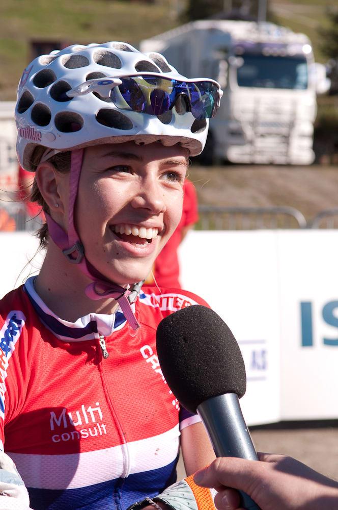 FORNØYD: Marit Sveen fikk tatt ut alt og var fornøyd.