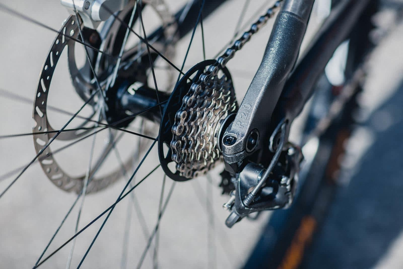 ANDRE VERSJON: Sykkelen kan komponeres og bygges i flere steg. Mille er nå på sin andre versjon av bakrammen, som er merket med «2.0».