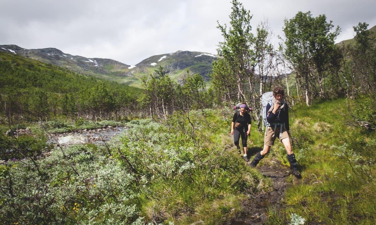 VARIERT: Jotunheimen byr på alt fra bratte fjell til fine stier i vakre daler. Foto: Marte Stensland Jørgensen