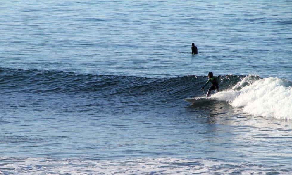 Odin Røhrt, 13 år, fikk hva han drømte om. Rene bølger. Foto: Audun Holmøy Røhrt