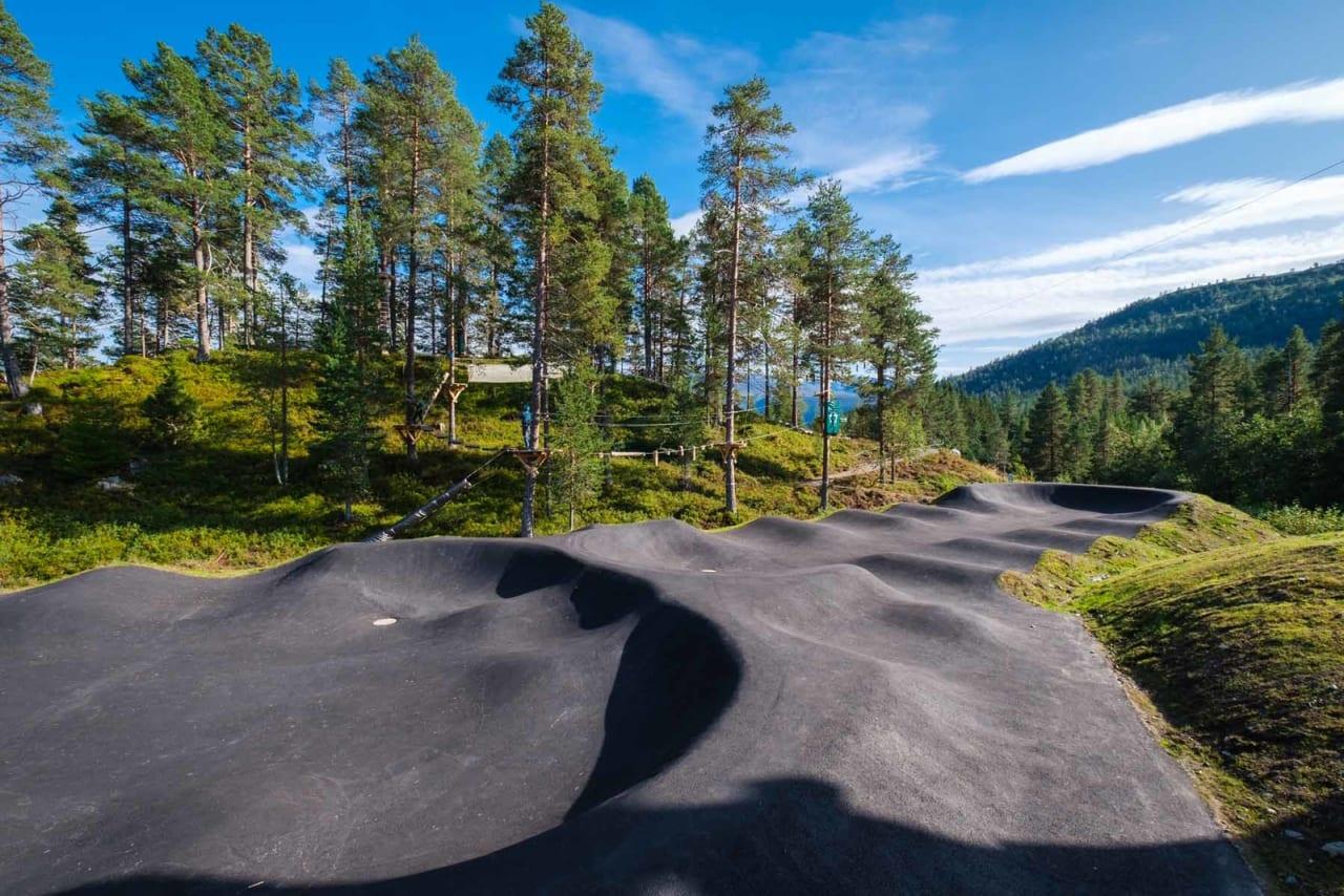 FLERE MULIGHETER: Pumptracken i Stryn gir flere muligheter for syklistene. Foto: Ole Eltvik