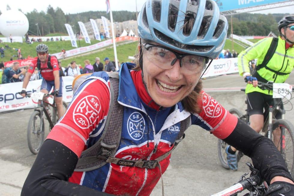 Tone Kristin Larsen ble nummer to i UltraBirken, men er strålende fornøyd med både kroppen og dagen. Foto: Ingeborg Scheve