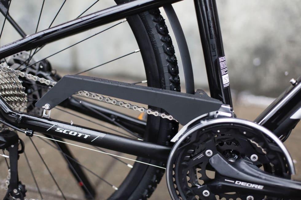 OVERFLOD: 30 gir og kjedekasse øker vekten på sykkelen.