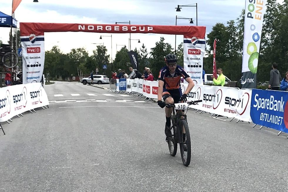 Eskil Evensen-Lie kom ensom til mål også på andre etappe i Trans-Østerdalen 3-dagers. Foto: Eivind Strand/NCF